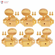 Electric Acoustic Guitar String Tuning Pegs Keys Tuners Machine Heads Gold (3 Left 3 Right)