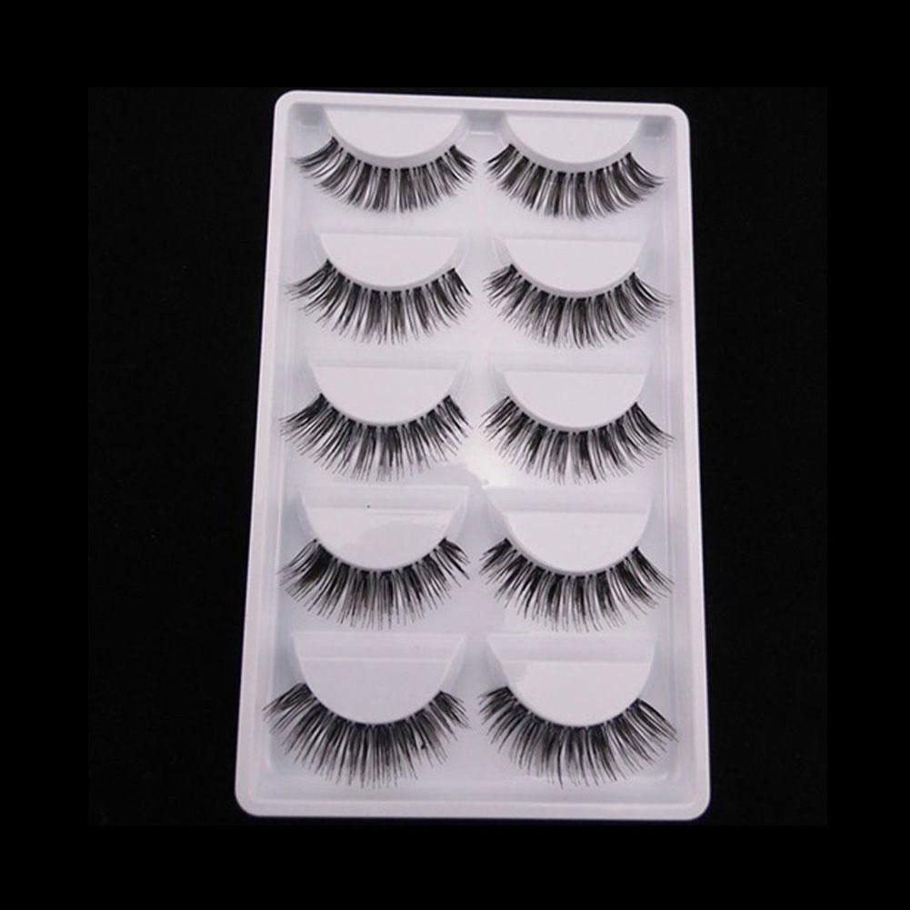 5 Pairs Natural Handmade Sparse Soft Makeup False Eyelashes Eye Lash Extension Eyelashes Artificial Eyelash Practice