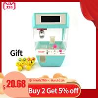 Coin Operated Candy Grabber Desktop Doll Candy Catcher Novelty Gag Toys Crane Machine wtih Alarm Clock Function Balls Random