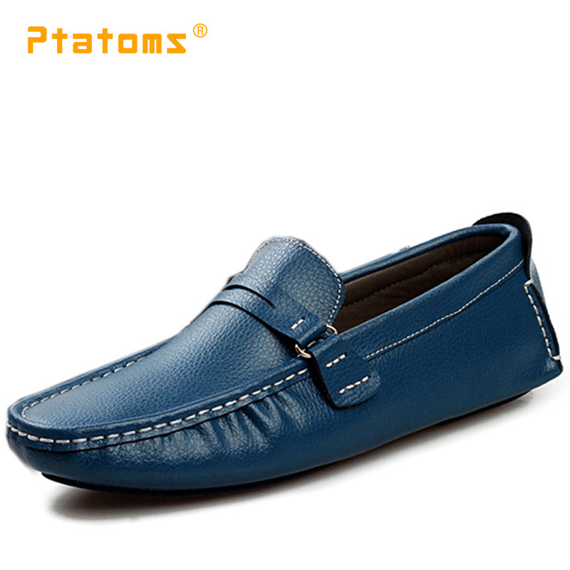 ce5c975c0c1 Mens Leather Dress Shoes Soft Loafers Men Casual Driving Shoes Designer Big  Size 47 Flats Square Toe