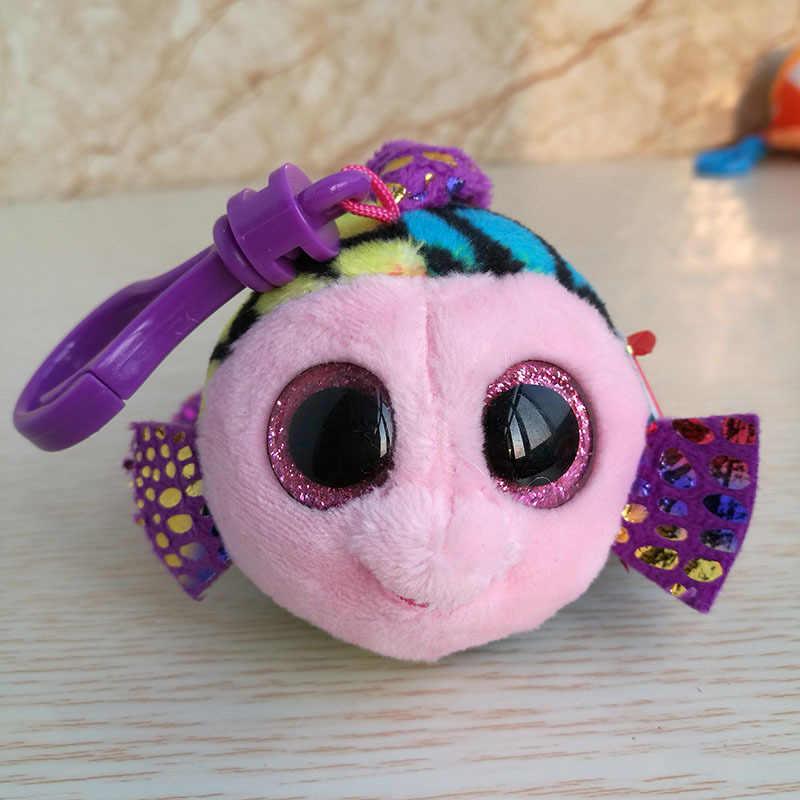 """Ty бини Боос большие глаза плюшевая кукла для ключей, игрушка лиса Сова собака Единорог Пингвин Жираф Леопард обезьяна дракон 4 """"10 см"""