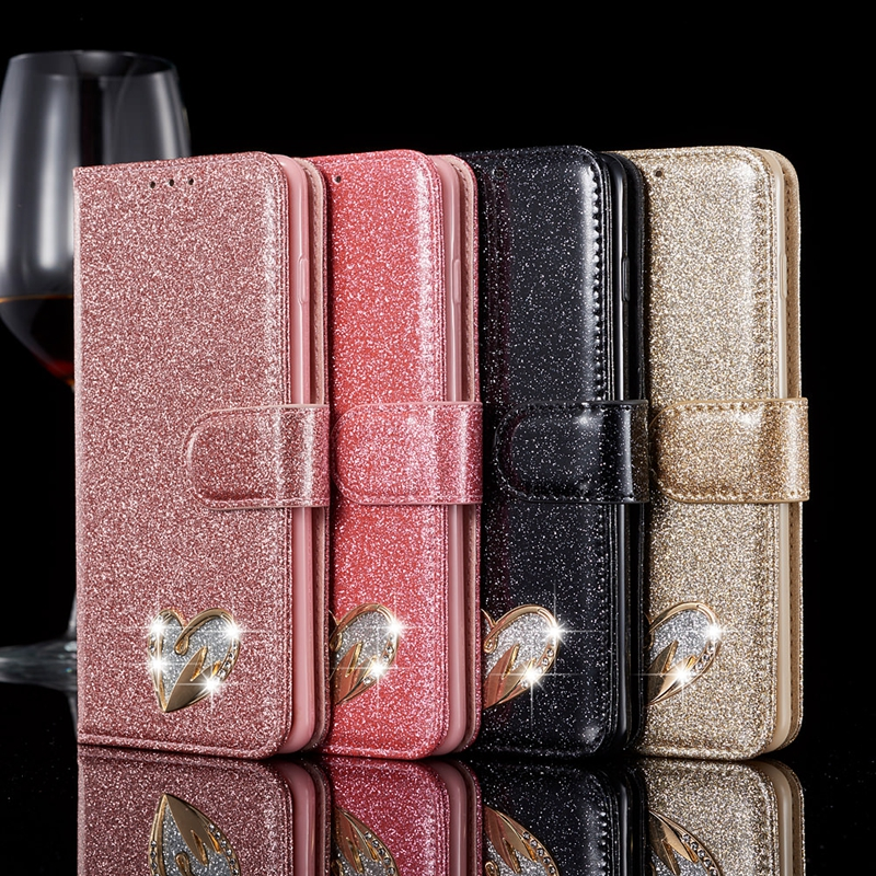 PU Leather Flip Wallet Case for Etui Samsung A5 2017 A520 A 520 Glittering Magnetic Phone Cover for Coque Samsung A5 2017 Case