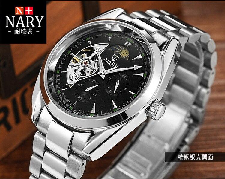 DIDUN montre hommes de luxe en acier quartz montre hommes d'affaires chronographe montre sport montres 30 M étanche - 4