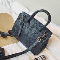 Luxury Famous Brand Handbags Women Crocodile Pattern PU Leather Tote Bag Platinum Large Capacity Shoulder Bag Sac A Main S1001