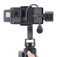 Vlog Plate with Mic Adapter for 3 Axis Gimbal Moza Mini S Smooth 4 Vimble 2 Vlogging Metal Case for Gopro 7 6