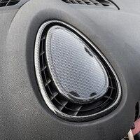 Нержавеющаясталь автомобиля вентиляционное отверстие приборной панели на выходе украшения Стикеры Обложка для Mini Cooper Clubman F54 F55 F56 F57 интер...