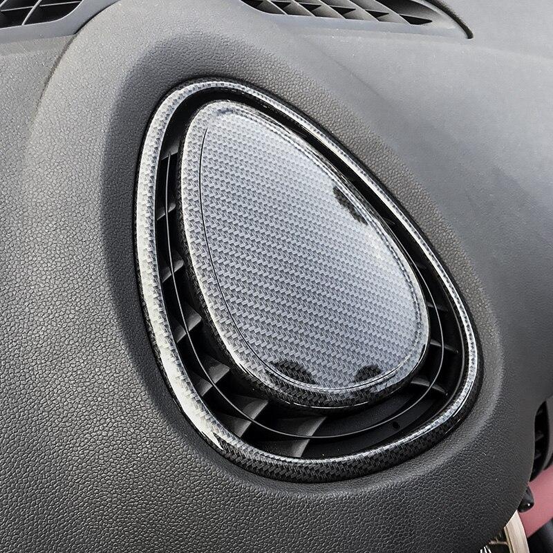 Acier inoxydable De Voiture Tableau de Bord sortie d'évacuation d'air autocollant de décoration Couverture pour Mini Cooper Clubman F54 F55 F56 F57 Style Intérieur