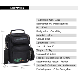 Image 5 - 3707W  Men Messenger Running Bags Casual Multifunction Small Travel Bags Waterproof Shoulder Waist Packs Military Crossbody Bags