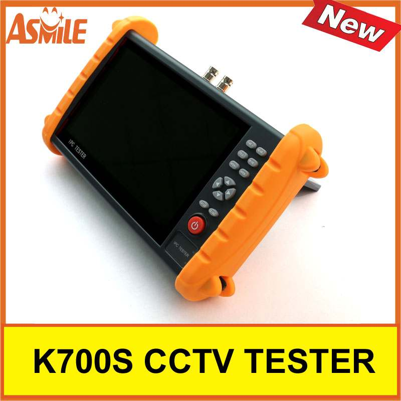 7 Inch K700S Camera Tester CCTV Tester Monitor Analog HD IP 1080P Hybrid Wifi Camera Tester 12V 2A Output