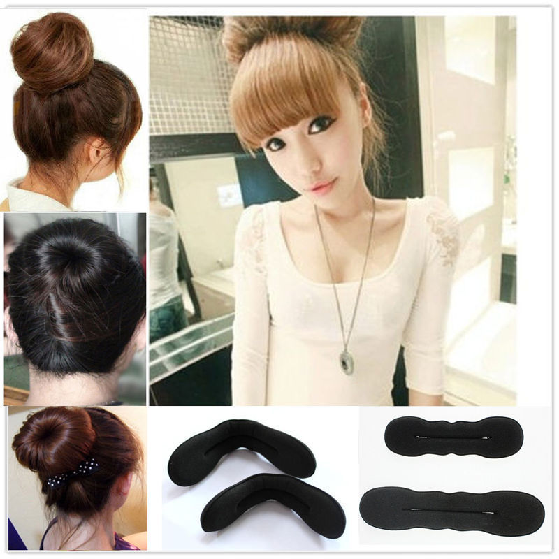 1pcs Hair Styling Magic Sponge Clip Foam Bun Curler Hairstyle Twist Maker Tool Accessories #2