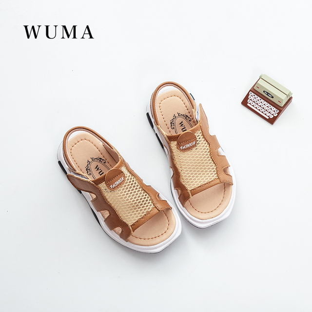 bdee927a66 WUMA genuine leather kids sandals baby boys summer sandals for kids boys  child orthopedic shoes beach baby boys sandals shoes