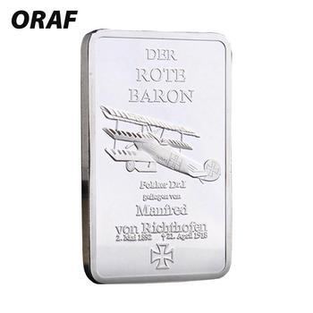 Commemorative Coin Modern DER ROTE BARON Gifts Souvenir Coin Ornaments Zinc Alloy Gold Bullion Bar 0.9999 Fine Gold Home Square