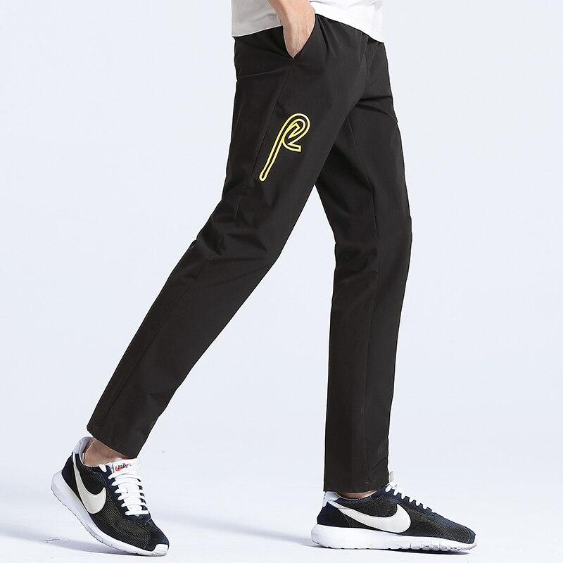 4acd72417 Acampamento pioneiro Nova verão finos calça casual calças de roupas  masculinas da marca preto reta sweatpants homens calças stretch qualidade  AZZ701006 em ...