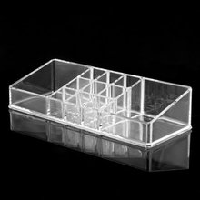 TEXU Clear Acrylic Cosmetic Organiser Lipstick Brush Holder Makeup Storage Case