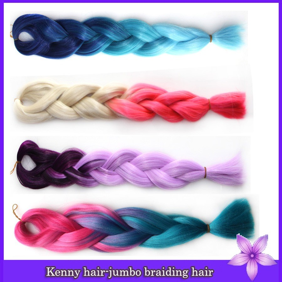 6packs 24inches Black Red Rose Purple Blonde Two Tone Omberxpression