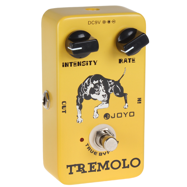 JOYO JF-09 Tremolo Guitar Pedal with True Bypass and Distinctive Sounds mooer ensemble queen bass chorus effect pedal mini guitar effects true bypass with free connector and footswitch topper