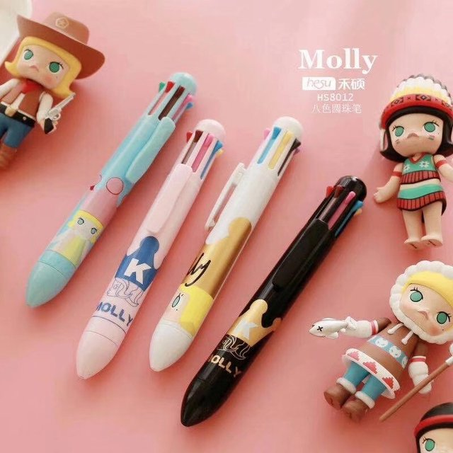 Molly King World 8 Colors Chunky Ballpoint Pen School Office Supply Gift Stationery Papelaria Escolar