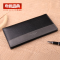 Free Shipping new 2014 Famous Brand Genuine Leather Men's Wallet Long Money Bags For Men Black Purse