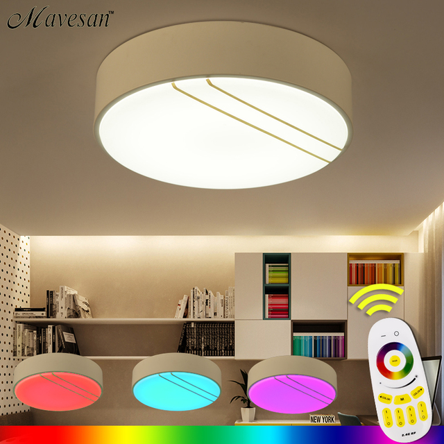 NEW Modern RGB Ceiling Light +Cool White+Warm White Smart LED Lamp Shade /