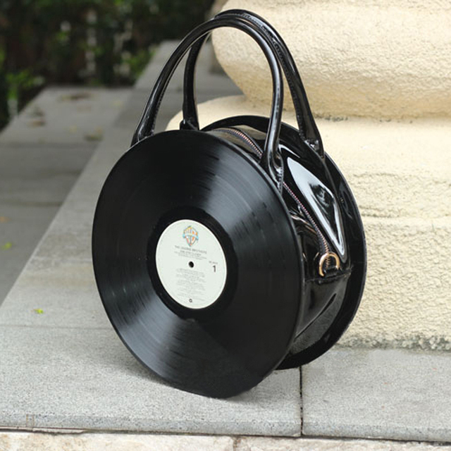 2018 Bags Of Anese Circular Bag Vinyl Portable Cd Single Shoulder Retro Street