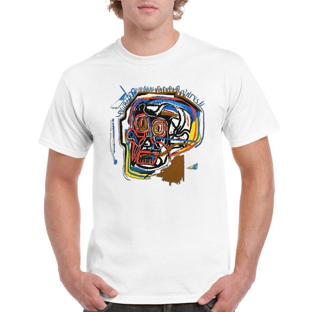 Limited Jean Michel BASQUIAT Skull Tour Dates White T-Shirt Size S-5XL