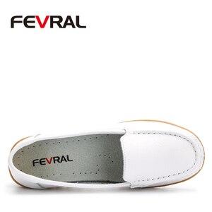 Image 2 - FEVRAL Plus di Dimensione Donna Scarpe In Morbida Pelle di Moda Donna Appartamenti Slip On Scarpe Donna Estate Casual Comfort Mocassini Scarpe Femminili