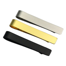 Simple Mens Tie Clips Skinny Bar Pins for Jewelry Clip Wedding Anniversary Business Gold Clasp Clamps Men