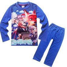 fashion bule color full sleeve children's pajamas suit 1127 with normal size