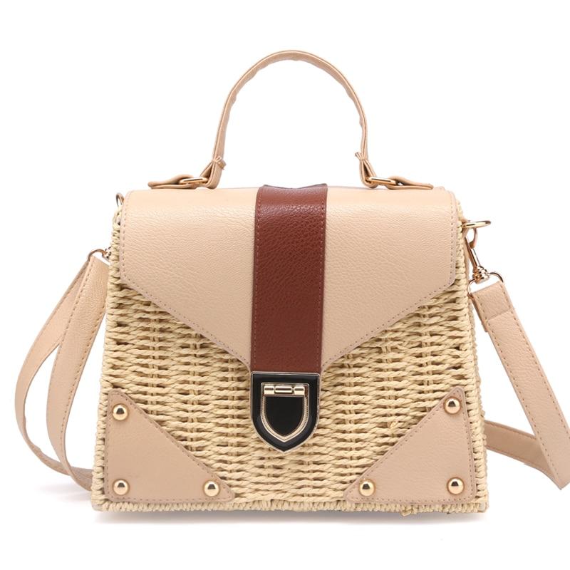 New 2018 Bohemian Straw Bags for Women Beach Handbags Summer Vintage Rattan Bag Handmade Kintted Crossbody Bag