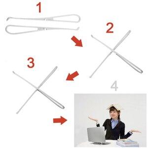 Image 5 - 1 пара Портативная подставка для ноутбука складной держатель поддержка ноутбука Регулируемый кронштейн для столешницы Эргономичная подставка для ноутбука