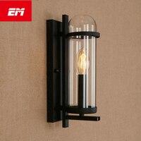 Retro vintage edison conduziu a lâmpada de parede suporte vela estilo cabeceira lâmpada parede luz e14 iluminação interior do banheiro zbd0049