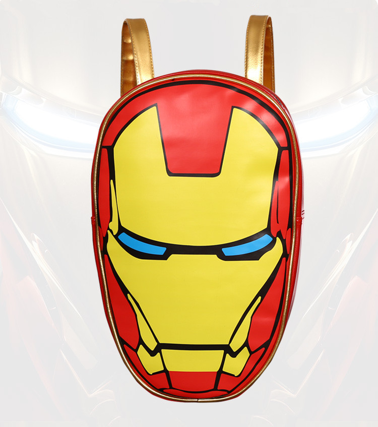 Free Shipping School Backpack the Avengers Iron Man 3D Fashionable Laptop Backpacks High Quality Leather 12 Computer famous brand school backpack the avengers captain america iron man fashionable laptop backpacks high quality leather