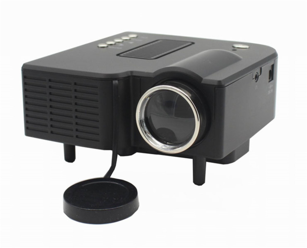 Uc28 mini portable led projector cinema theater pc laptop for Small hdmi projector