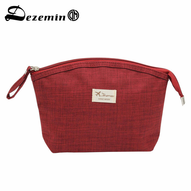 Dezemin Canvas Women Handbag Makeup Bag With Handle