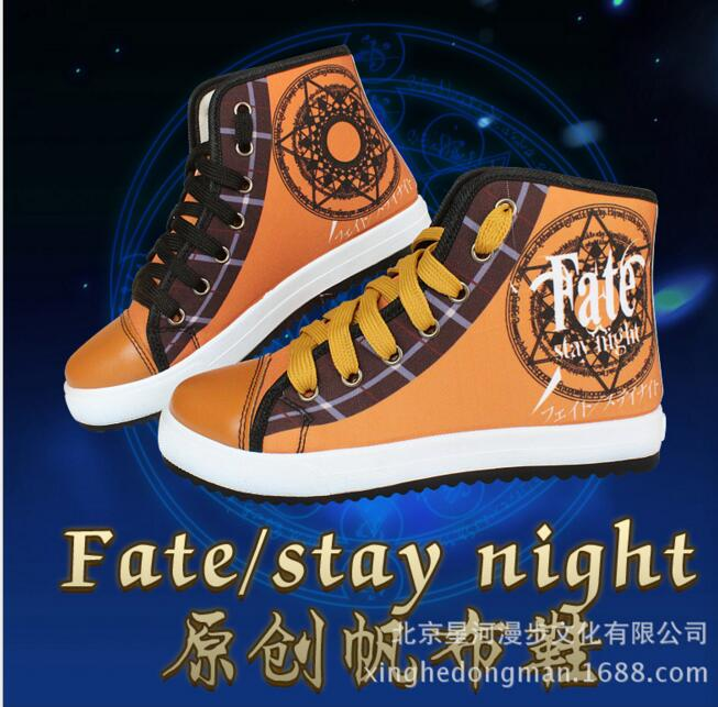 Anime Fate Stay Night UBW Saber Zero Archer Master Tohsaka Rin Cosplay Costume shoes sport school canvas shoes