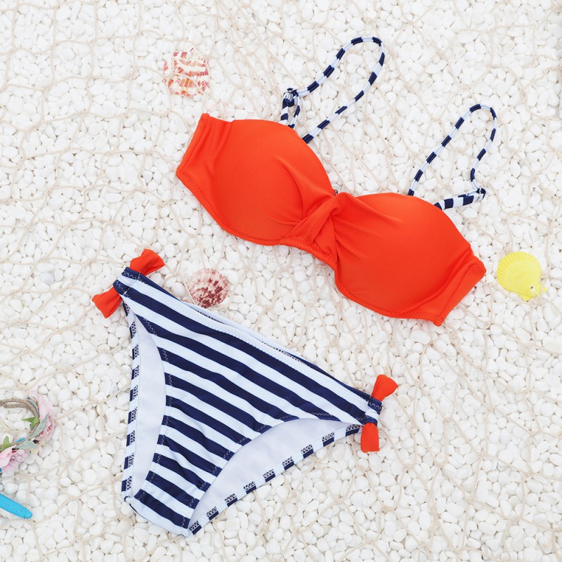 Candy Colors Summer Swimwear Sexy Women Bra Swimsuit Bathing Suit Push Up Swimwear Female Bikini Set Two Pieces Biquini