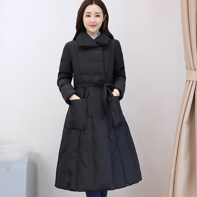 High Quality 2018 New Winter Women   Down   Long Parka Female Thicken Plus Size Outerwear Warm Women   Down     Coat   Jackets YP1247