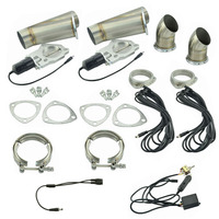 2.5 Inch Exhaust Cutout Stainless Steel Y Headers Catback Pair Manual Switch Cut Out Pipe Kit
