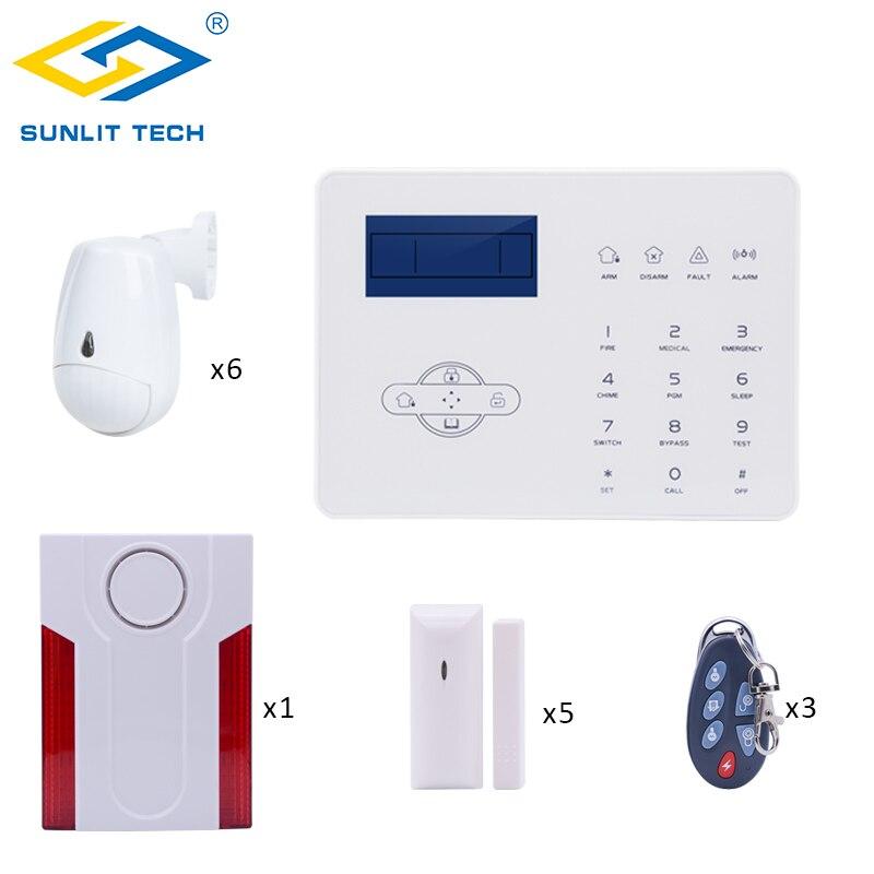 Système d'alarme sans fil GSM PSTN de ST-IIIB de mise au point pour la sécurité antivol à la maison