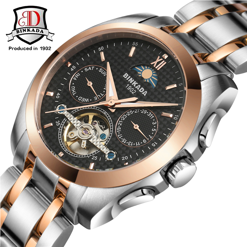 Здесь продается  2017 BINKADA Mens Mechanical Watch  Military Watches Army Steel High Quality Automatic Watches Waterproof Male Relogio Masculino  Часы
