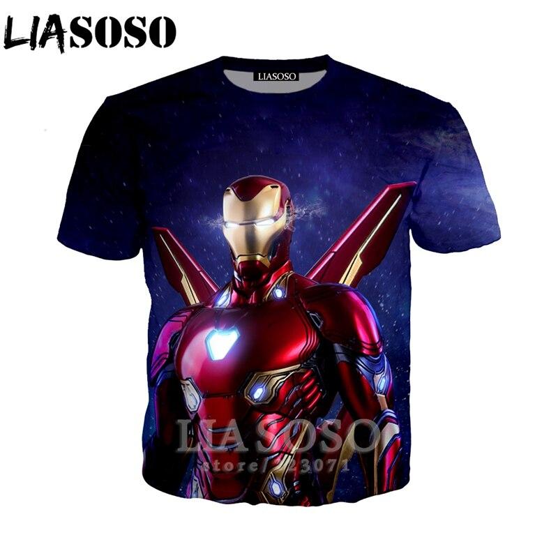 Marvel Avengers Endgame Iron Man Women Men T-Shirt 3D Print Short Sleeve Tee