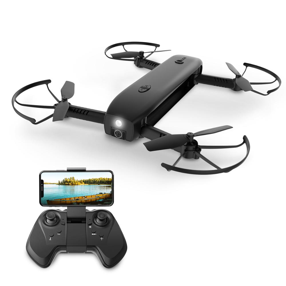 Holy Stone HS161 FPV Drone with Camera 1080P HD Selfie Drone Foldable Drones Optical Flow Positioning Flashlight RC Quadcopter image