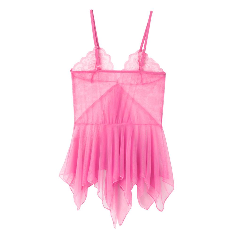 2017 New Women Sexy Lingerie Lace Nightgown Night Dress Sheer Sleepwear Babydoll Nightwear & chemise de nuit nightdress Z1 5