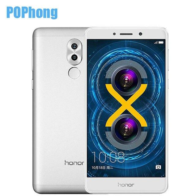 Original Huawei Honor 6X Dual Rear Camera Cell Phone 5.5 inch Kirin 655 Octa Core 3GB RAM 32GB ROM Android Dual SIM Fingerprint