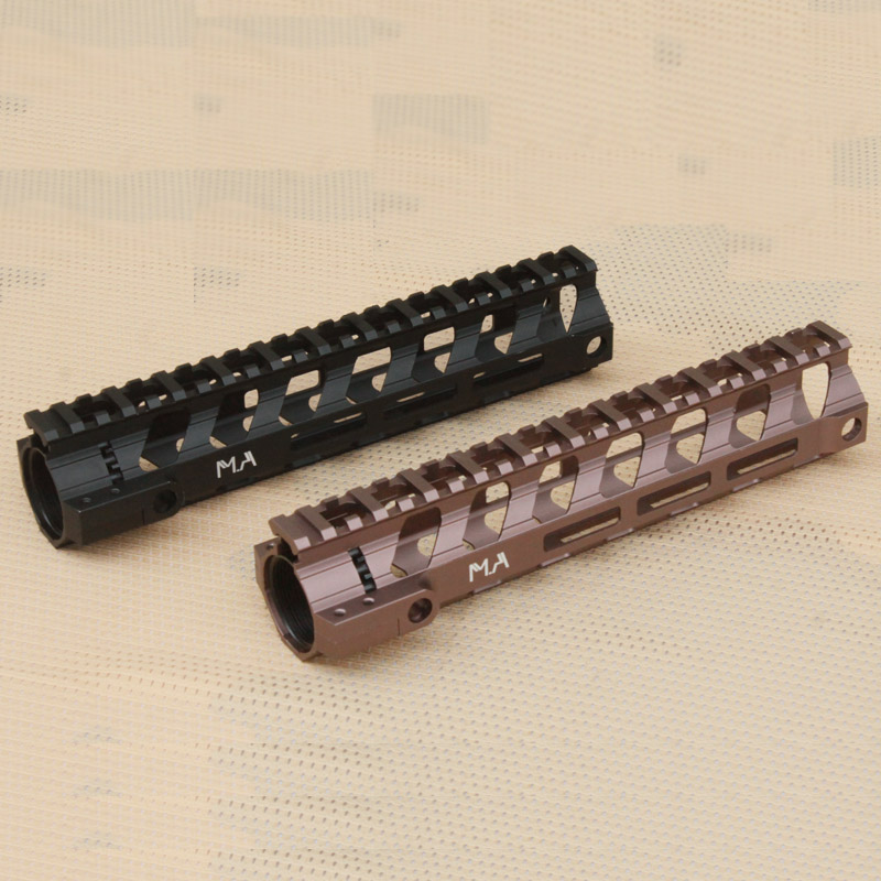 New style CNC Aluminum Lightweight 9 25 inch Free Float Handguard rail system hunting accessories BK