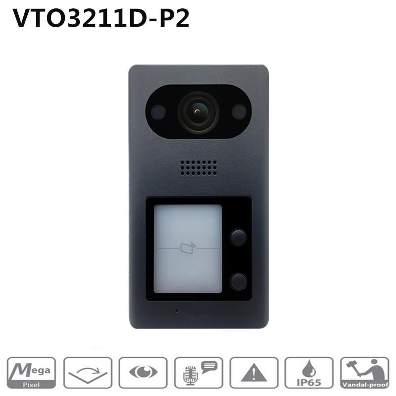 Dahua English Version VTO3211D-P2 PoE(802.3af) IP Metal Villa Outdoor Station Intercom Video Door Phone