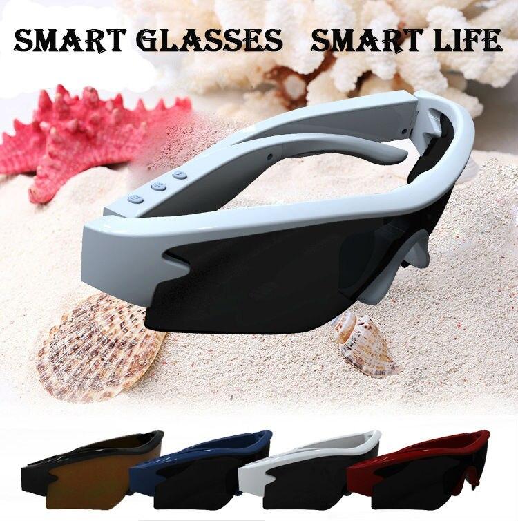 2016 Fashion Smart Bluetooth <font><b>Glasses</b></font> <font><b>High</b></font> <font><b>Quality</b></font> Outdoor Sports Sunglasses <font><b>Stereo</b></font> Earphone Headset Long Standby Extra Lenses