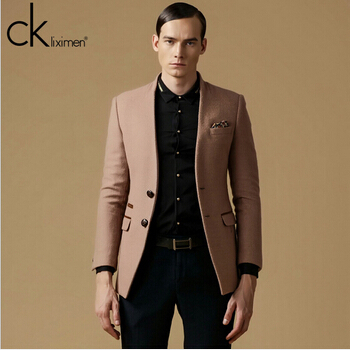 Images of Mens Brown Blazer - Reikian