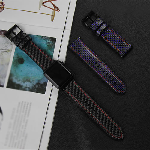 Newest Wrist Strap For Apple Watch High Quality Real Carbon Fiber Watch Band For Apple Watch Series 1 2 3 iWatch Watch Bracelet for apple watch series 4 iwatch band real carbon fiber watch straps for apple watch series 1 2 3 leahter bracelet 38 42 40 44mm