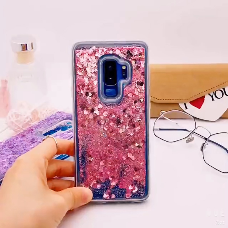 for Samsung Galaxy S9 case Back cover Bling Glitter Dynamic Quicksand Liquid Case for samsung S9 plus cover Galaxy S9 coque (4)